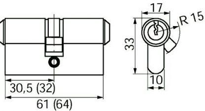 Ruko dobb. profilcylinder 1620